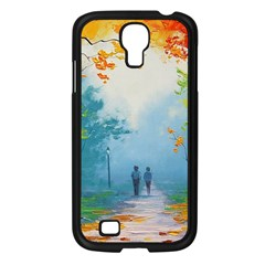 Park Nature Painting Samsung Galaxy S4 I9500/ I9505 Case (Black)