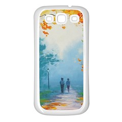Park Nature Painting Samsung Galaxy S3 Back Case (white)