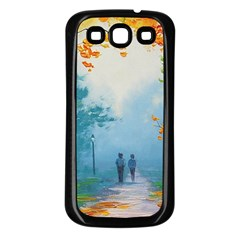Park Nature Painting Samsung Galaxy S3 Back Case (black)