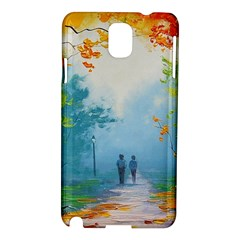 Park Nature Painting Samsung Galaxy Note 3 N9005 Hardshell Case
