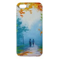 Park Nature Painting iPhone 5S/ SE Premium Hardshell Case