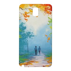 Park Nature Painting Samsung Galaxy Note 3 N9005 Hardshell Back Case