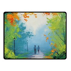 Park Nature Painting Double Sided Fleece Blanket (small)