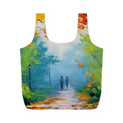 Park Nature Painting Full Print Recycle Bags (m)