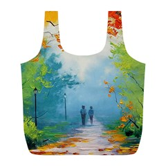 Park Nature Painting Full Print Recycle Bags (l)