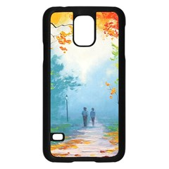 Park Nature Painting Samsung Galaxy S5 Case (black)