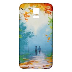 Park Nature Painting Samsung Galaxy S5 Back Case (white)