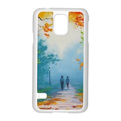 Park Nature Painting Samsung Galaxy S5 Case (white)