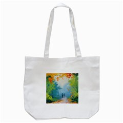 Park Nature Painting Tote Bag (White)