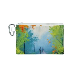 Park Nature Painting Canvas Cosmetic Bag (S)