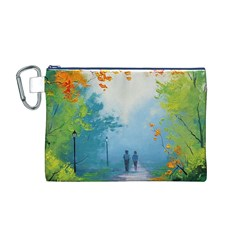 Park Nature Painting Canvas Cosmetic Bag (M)