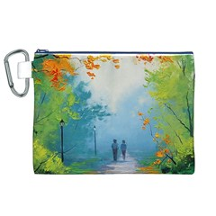 Park Nature Painting Canvas Cosmetic Bag (xl)