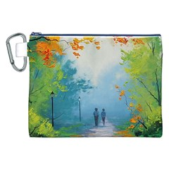 Park Nature Painting Canvas Cosmetic Bag (xxl)