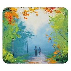 Park Nature Painting Double Sided Flano Blanket (small)