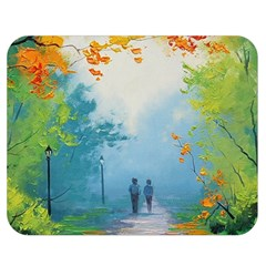 Park Nature Painting Double Sided Flano Blanket (medium)