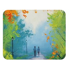 Park Nature Painting Double Sided Flano Blanket (Large)