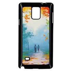Park Nature Painting Samsung Galaxy Note 4 Case (Black)
