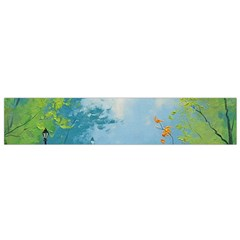 Park Nature Painting Flano Scarf (small)