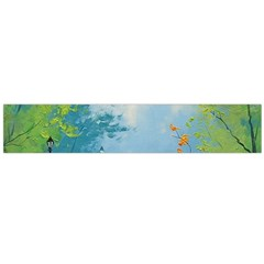 Park Nature Painting Flano Scarf (Large)