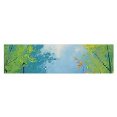 Park Nature Painting Satin Scarf (oblong)