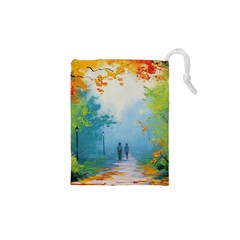 Park Nature Painting Drawstring Pouches (xs)