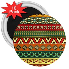 Mexican Folk Art Patterns 3  Magnets (10 pack)