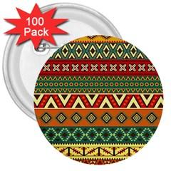 Mexican Folk Art Patterns 3  Buttons (100 Pack)