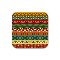 Mexican Folk Art Patterns Rubber Coaster (Square)