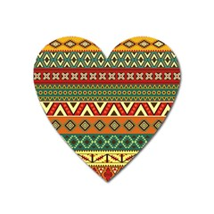 Mexican Folk Art Patterns Heart Magnet
