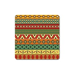 Mexican Folk Art Patterns Square Magnet