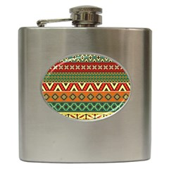 Mexican Folk Art Patterns Hip Flask (6 oz)