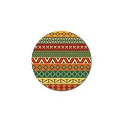 Mexican Folk Art Patterns Golf Ball Marker (4 pack)