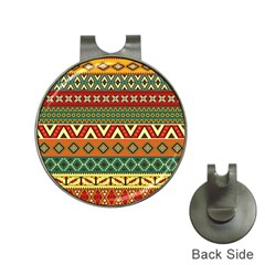 Mexican Folk Art Patterns Hat Clips With Golf Markers