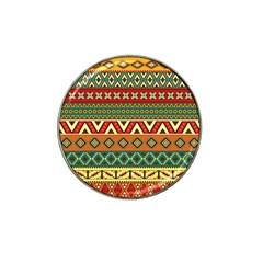 Mexican Folk Art Patterns Hat Clip Ball Marker (10 Pack)