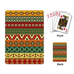 Mexican Folk Art Patterns Playing Card