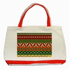 Mexican Folk Art Patterns Classic Tote Bag (Red)
