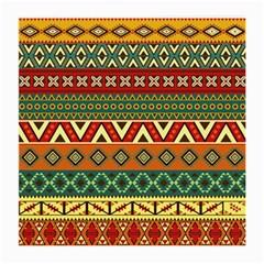 Mexican Folk Art Patterns Medium Glasses Cloth