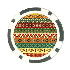 Mexican Folk Art Patterns Poker Chip Card Guard