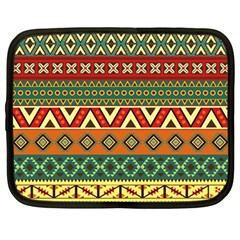 Mexican Folk Art Patterns Netbook Case (large)