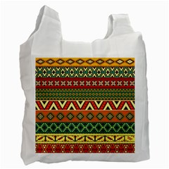 Mexican Folk Art Patterns Recycle Bag (two Side)