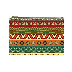 Mexican Folk Art Patterns Cosmetic Bag (large)