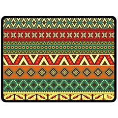 Mexican Folk Art Patterns Fleece Blanket (large)