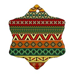 Mexican Folk Art Patterns Ornament (snowflake)