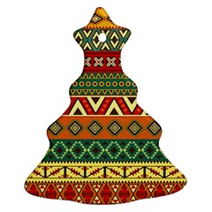 Mexican Folk Art Patterns Christmas Tree Ornament (two Sides)