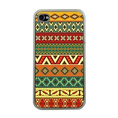 Mexican Folk Art Patterns Apple Iphone 4 Case (clear)