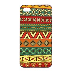 Mexican Folk Art Patterns Apple Iphone 4/4s Seamless Case (black)