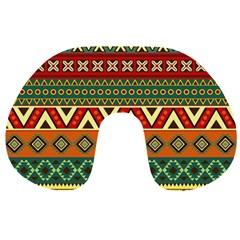Mexican Folk Art Patterns Travel Neck Pillows