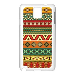 Mexican Folk Art Patterns Samsung Galaxy Note 3 N9005 Case (white)