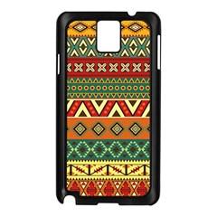Mexican Folk Art Patterns Samsung Galaxy Note 3 N9005 Case (black)
