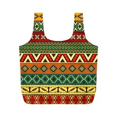 Mexican Folk Art Patterns Full Print Recycle Bags (m)